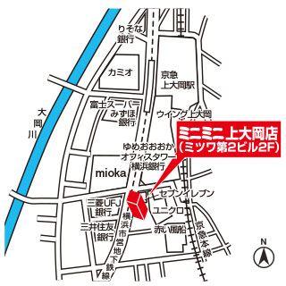 ミニミニ上大岡店の地図