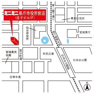 ミニミニ県庁市役所前店の地図