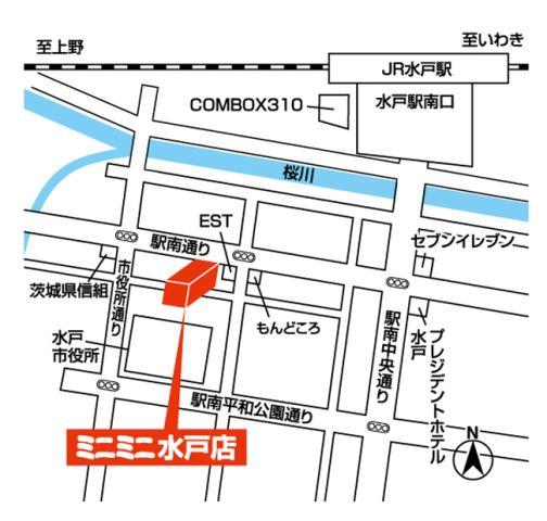 ミニミニ水戸店の地図