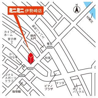 ミニミニ伊勢崎店の地図