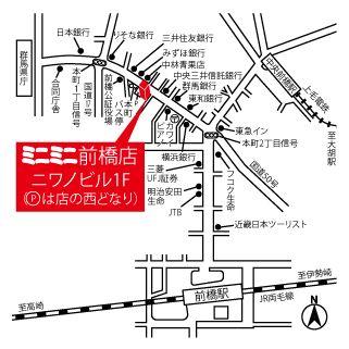 ミニミニ前橋店の地図