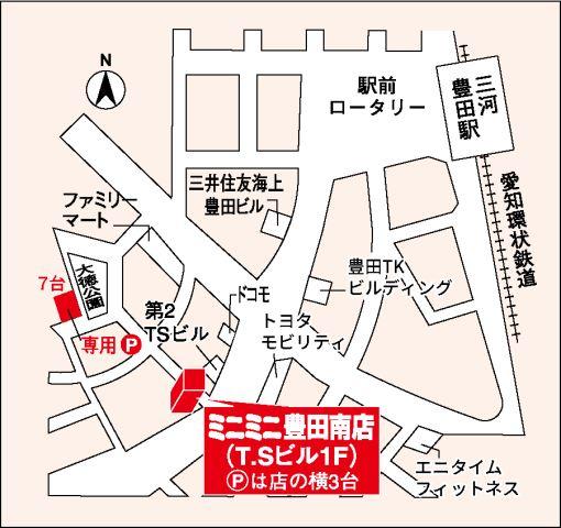 ミニミニ豊田南店の地図