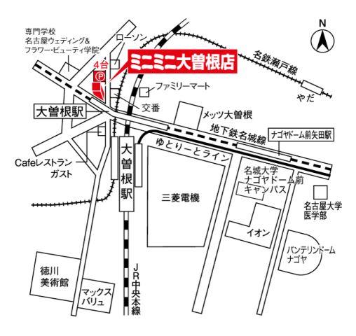 ミニミニ大曽根店の地図