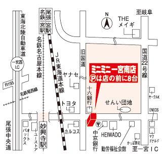 ミニミニ一宮南店の地図