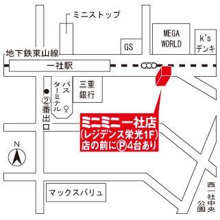 ミニミニ一社店の地図