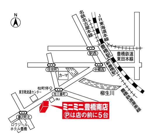 ミニミニ豊橋南店の地図