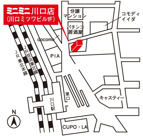 ミニミニ川口店の地図