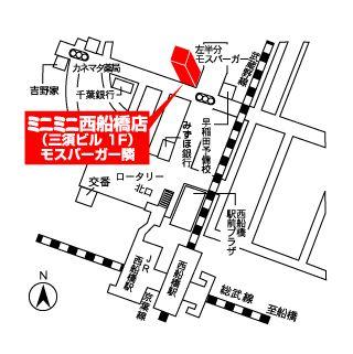 ミニミニ西船橋店の地図