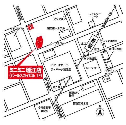 ミニミニ瑞江店の地図