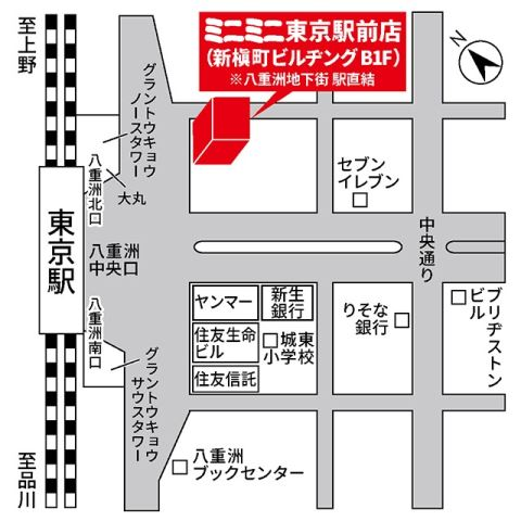 ミニミニ東京駅前店の地図