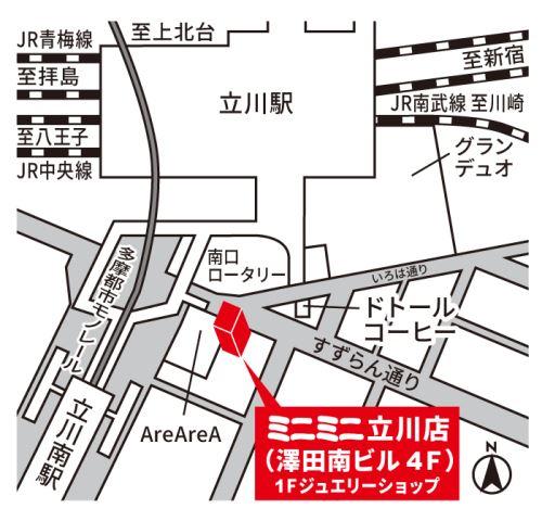 ミニミニ立川店の地図
