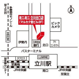 ミニミニ立川北口店の地図