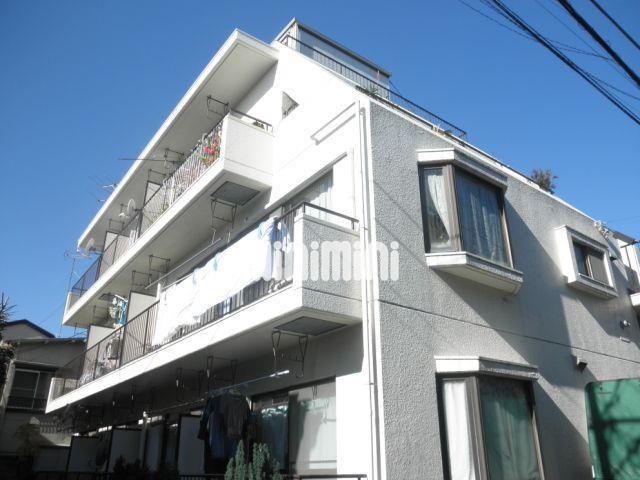 東京都目黒区、学芸大学駅徒歩22分の築35年 3階建の賃貸マンション