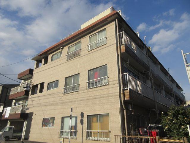 東京都大田区、京急蒲田駅徒歩15分の築41年 3階建の賃貸アパート