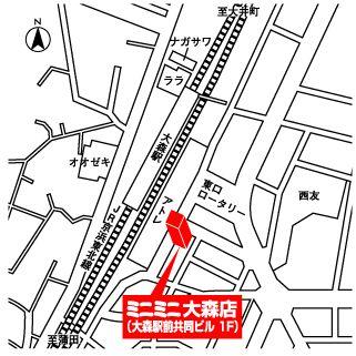 ミニミニ大森店の地図
