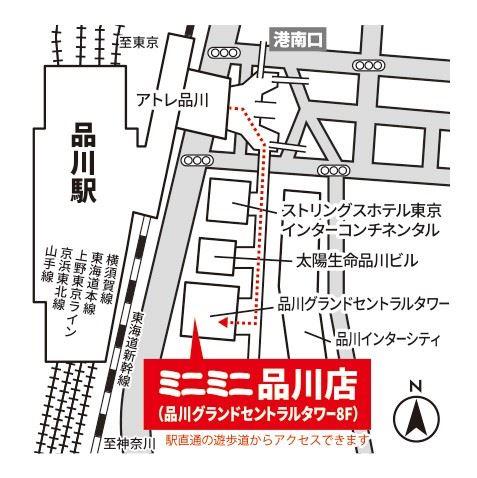 ミニミニ品川店の地図