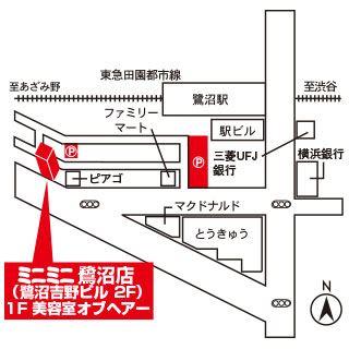 ミニミニ鷺沼店の地図