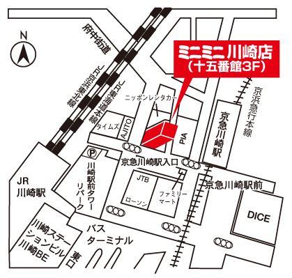 ミニミニ川崎店の地図
