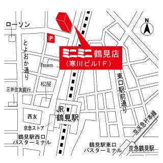 ミニミニ鶴見店の地図
