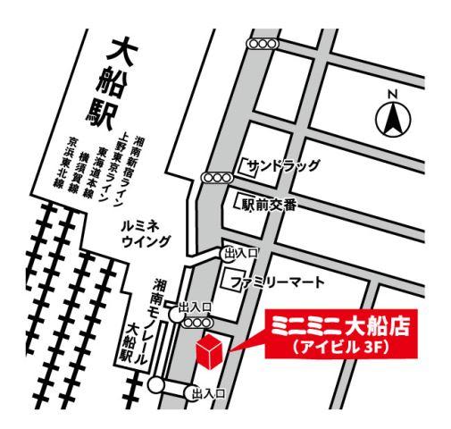 ミニミニ大船店の地図