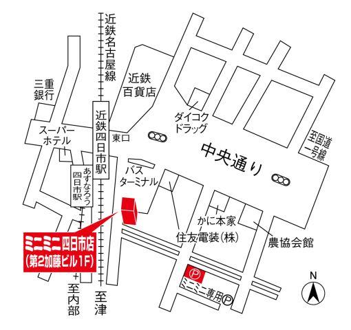 ミニミニ四日市店の地図