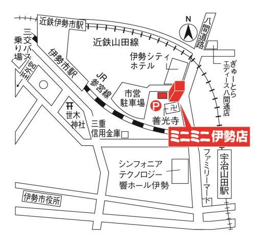 ミニミニ伊勢店の地図