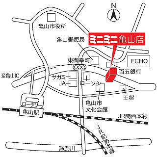 ミニミニ亀山店の地図