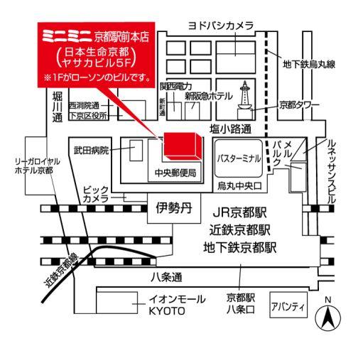 ミニミニ京都駅前本店の地図