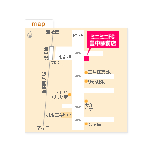 FC豊中駅前店の地図