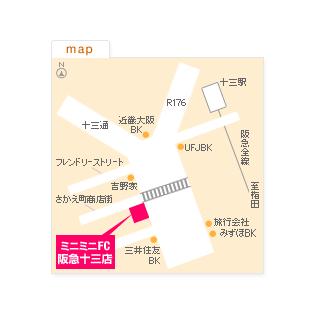 FC阪急十三店の地図