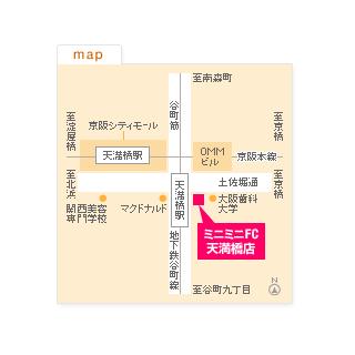 FC天満橋店の地図