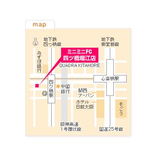 FC四ツ橋堀江店の地図