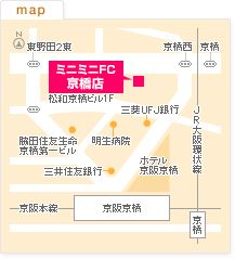 FC京橋店の地図