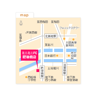 FC肥後橋店の地図