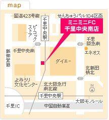 FC千里中央南店の地図