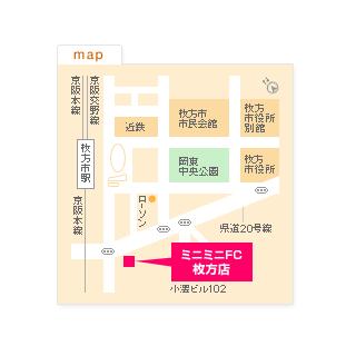FC枚方店の地図
