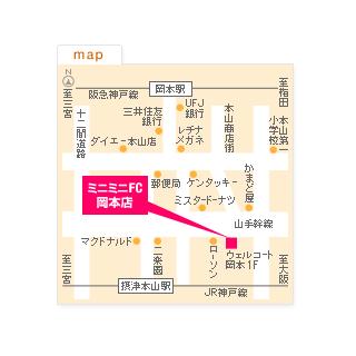 FC岡本店の地図
