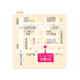 FC本通り店の地図