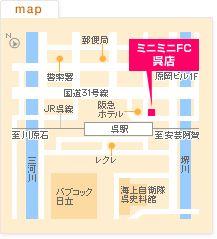 FC呉店の地図