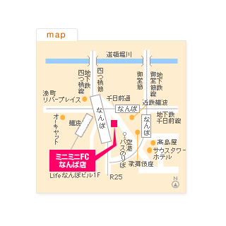 FCなんば店の地図