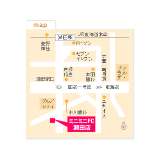 FC瀬田店の地図