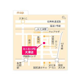 FC大津店の地図