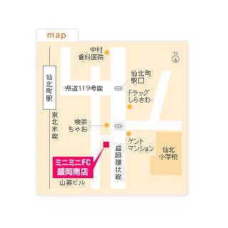 FC盛岡南店の地図