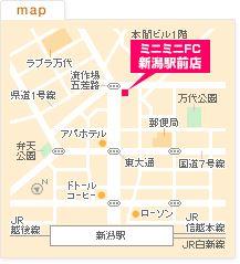 FC新潟とやの店の地図