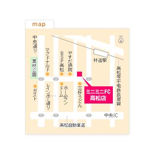 FC高松店の地図