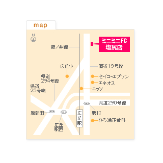 FC塩尻店の地図