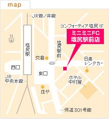 FC塩尻駅前店の地図