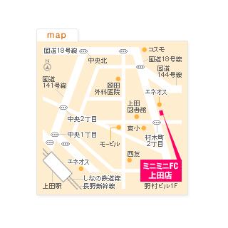 FC上田店の地図