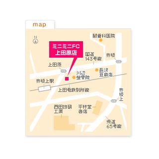 FC上田原店の地図