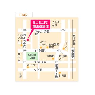 FC郡山桑野店の地図